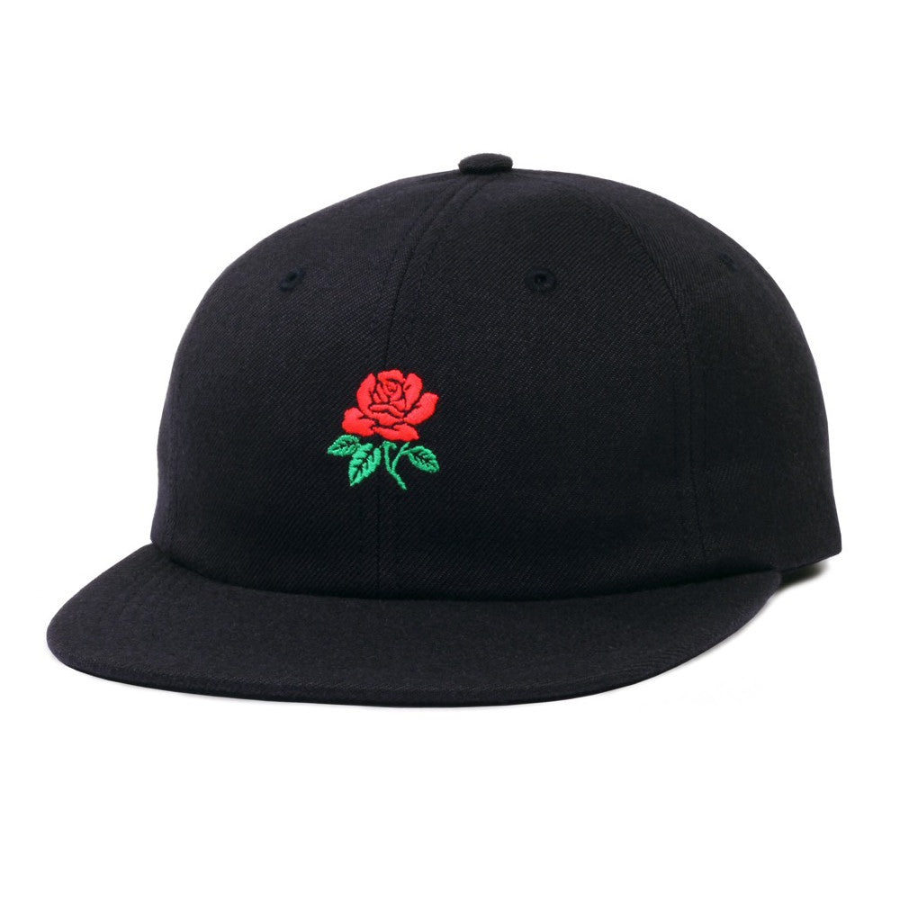 Butter Goods Rose 6 Panel Camp Hat - Black