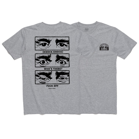 Pass Port Knock-Knock Tee - Heather Grey