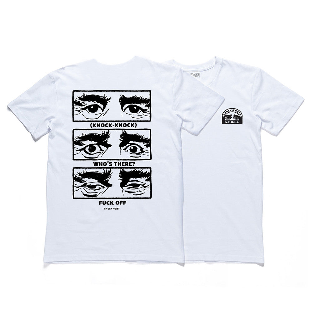 Pass Port Knock-Knock Tee - White