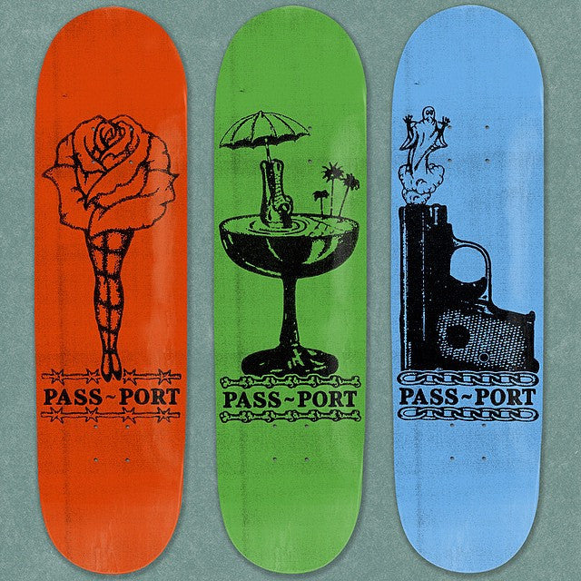 "Passport ""Croc Sips"" Kitsch Skateboard Deck"
