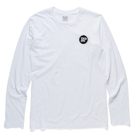 Pass Port P~P Works Patch Long Sleeve Tee - White