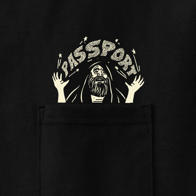 Pass Port Magic Man Pocket T-Shirt - Black