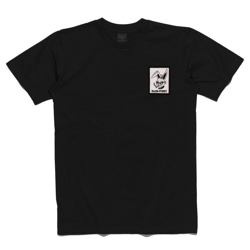 Pass Port Pleasure Patch T-Shirt - Black