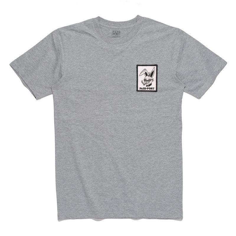 Pass Port Pleasure Patch T-Shirt - Heather Grey