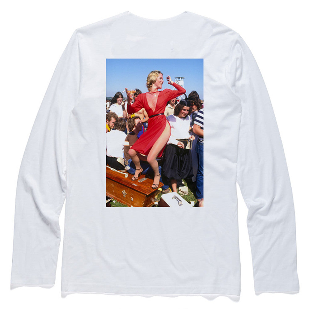 Passport x Rennie Ellis Melbourne Cup Long Sleeve Tee - White