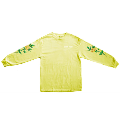 Passport Rosa Longsleeve T-shirt - Yellow