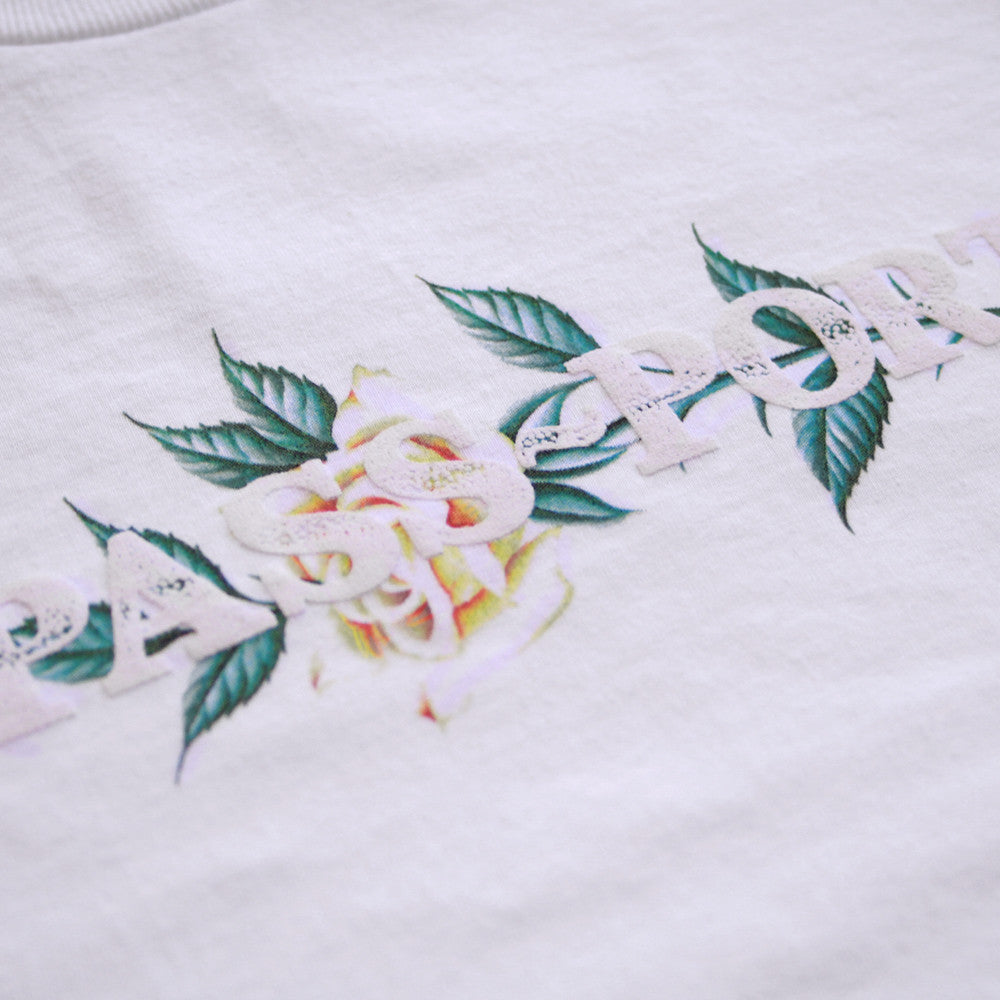 Passport Rose Official Puff T-shirt - White