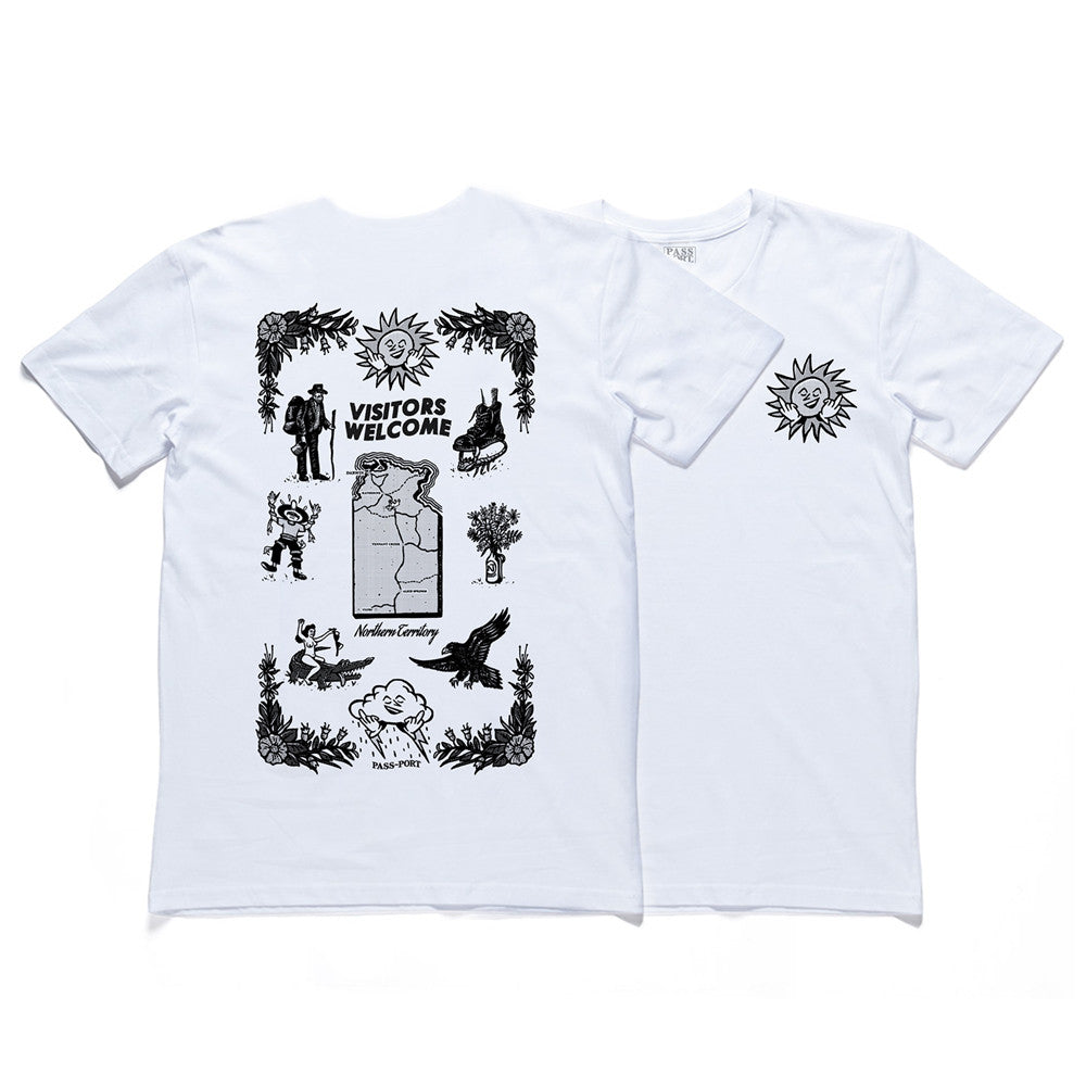 Passport Tea Towel Tee - White
