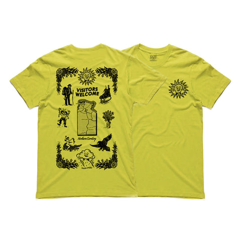 Passport Tea Towel Tee - Yellow