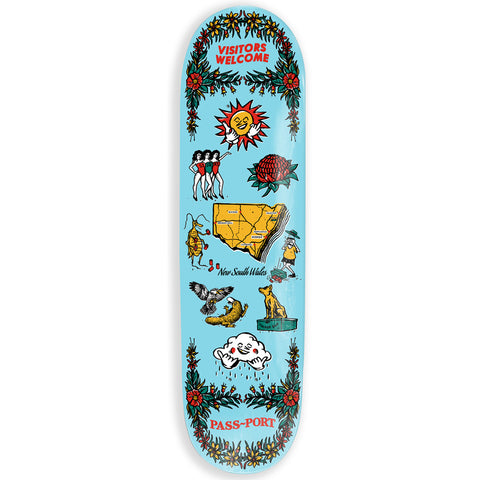 Passport Tea Towels NSW Skateboard Deck