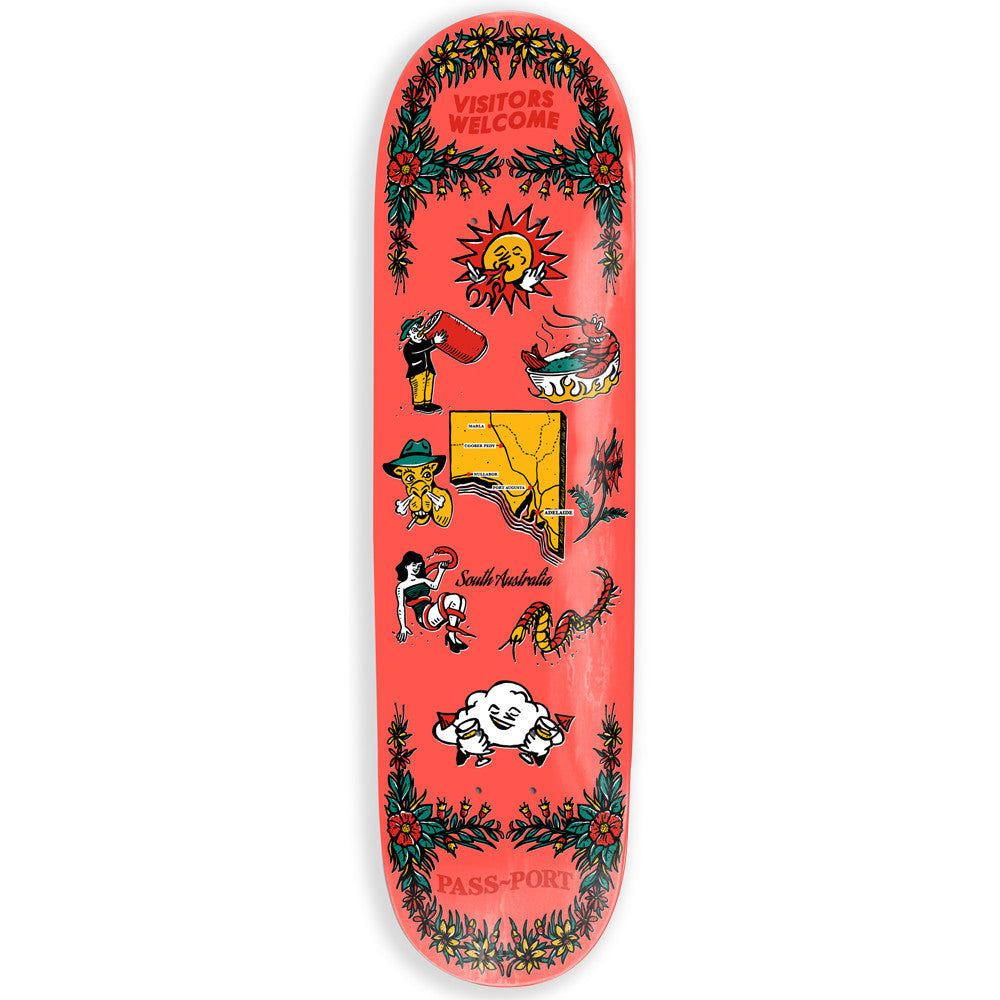 Passport Tea Towels SA Skateboard Deck