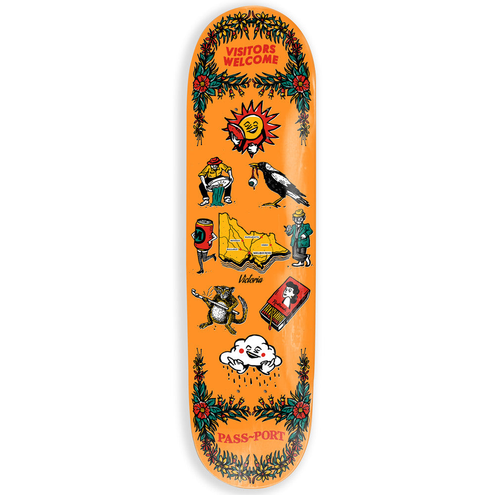 Passport Tea Towels VIC Skateboard Deck