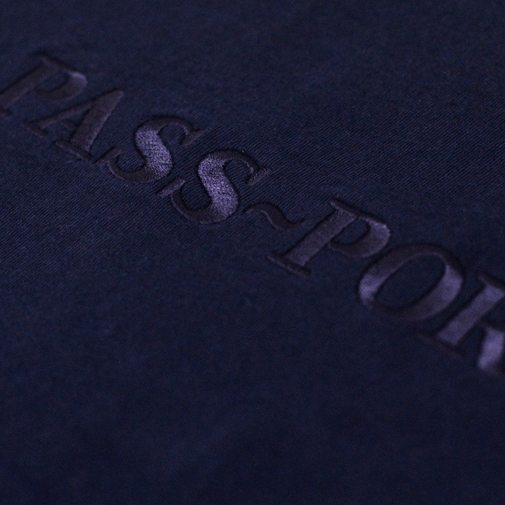 Pass Port Official Embroidery Tee - Navy