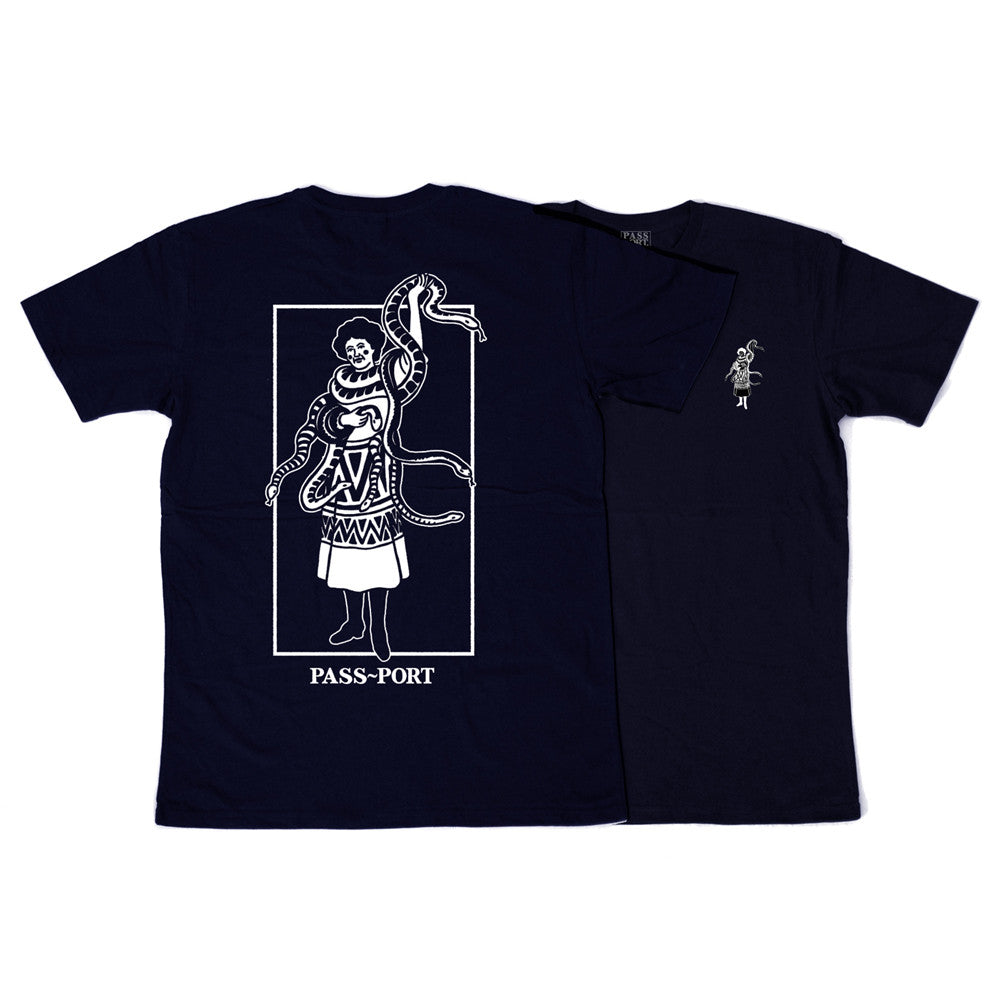 Pass Port Wild Women T-Shirt - Navy