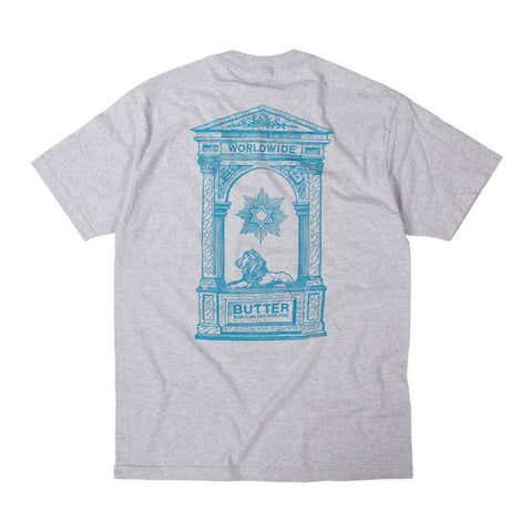 Butter Goods Babylon T Shirt - Heather Grey