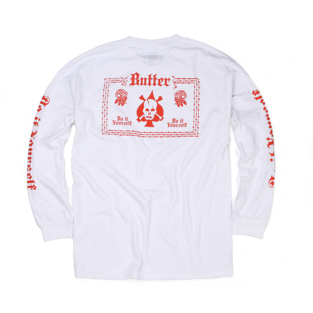 Butter Goods DIY Long Sleeve Tee - White