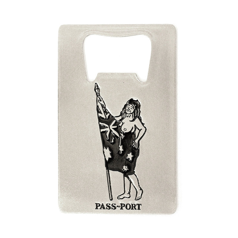 Pass~Port Flag Bearer Bottle Opener