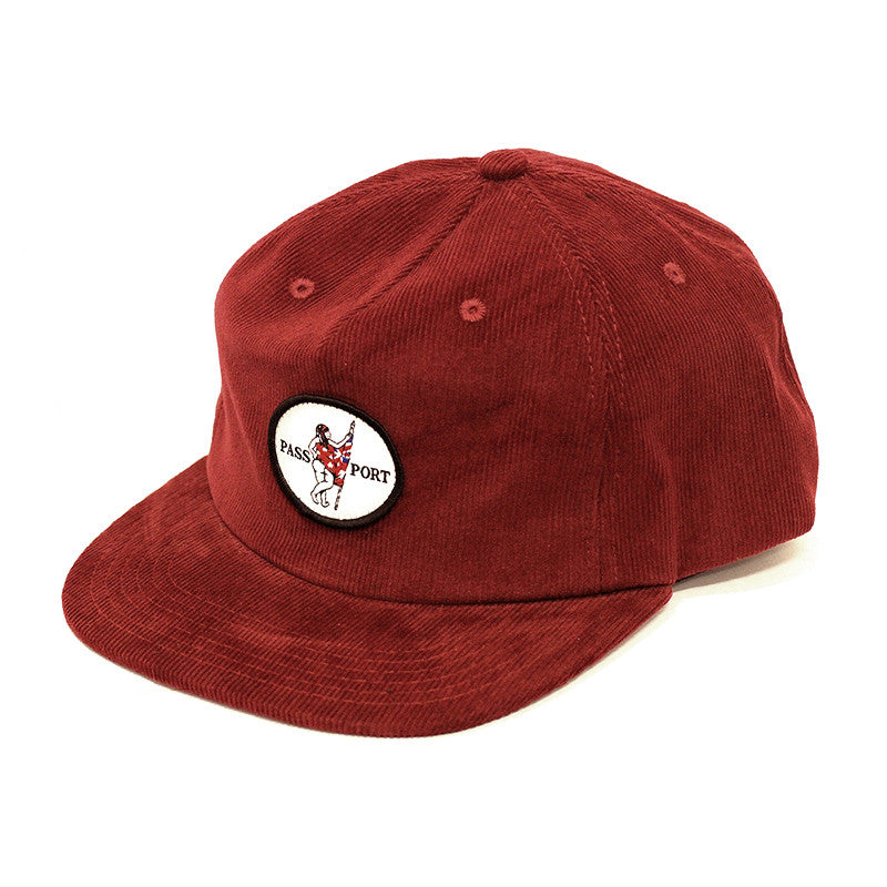 Pass Port Flag Bearer Chord Hat - Burgundy
