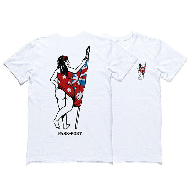 Pass Port Flag Bearer Tee - White