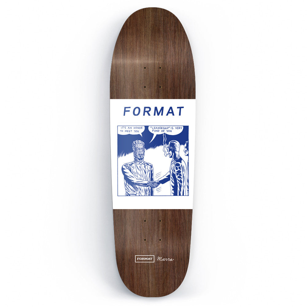 "Format ""Leadership"" Skateboard Deck by Marra (Shape - Assorted Stains)"