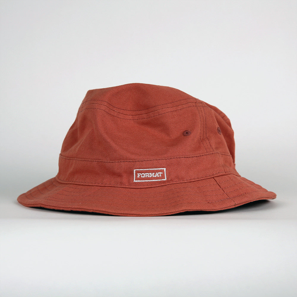 "Format ""Buck It"" Bucket Hat - Guava"