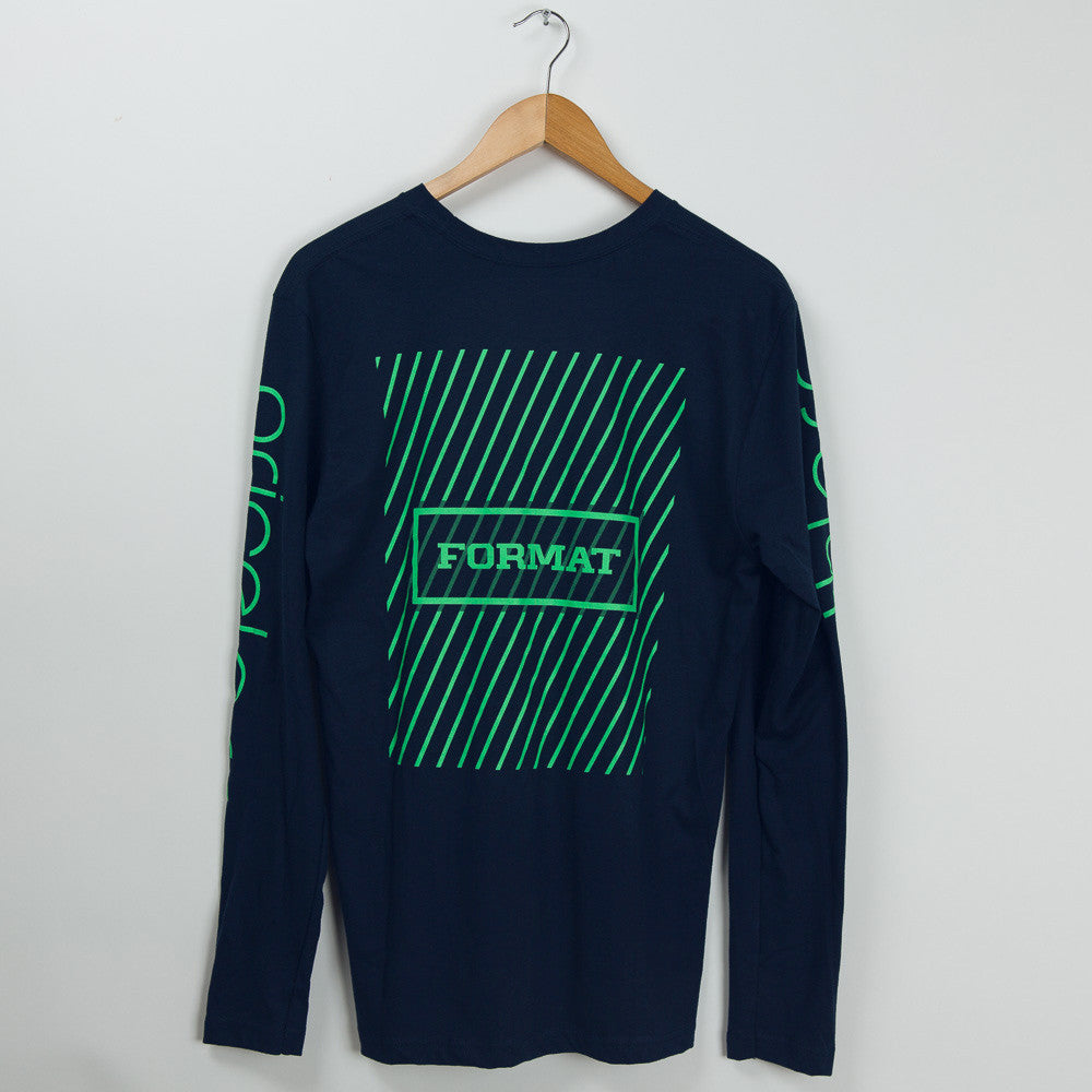 "Format Skateboards ""Array"" Long Sleeve Tee - Navy"