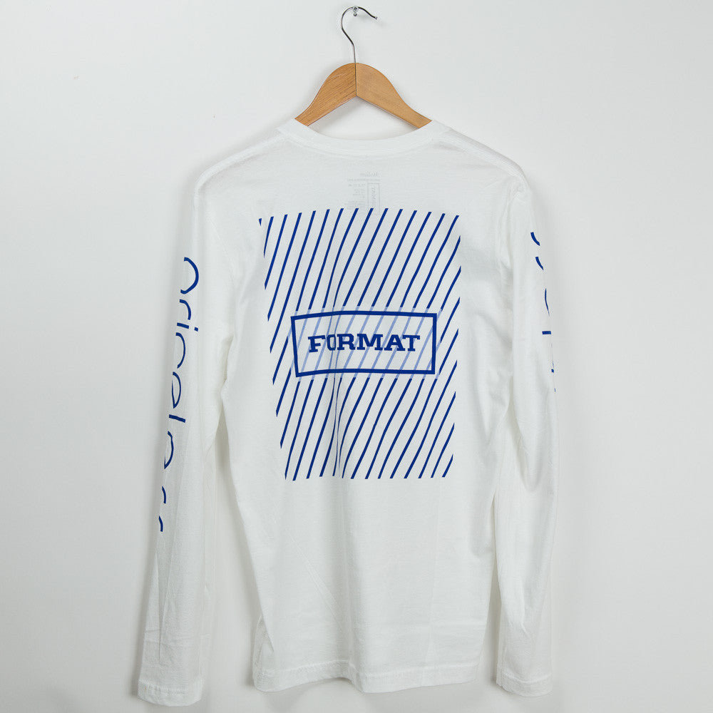 "Format Systems ""Array"" Long Sleeve Tee - White"