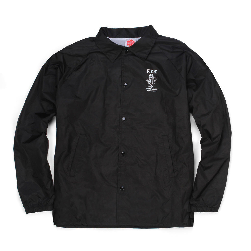 Butter Goods FTW Coaches Jacket - Black