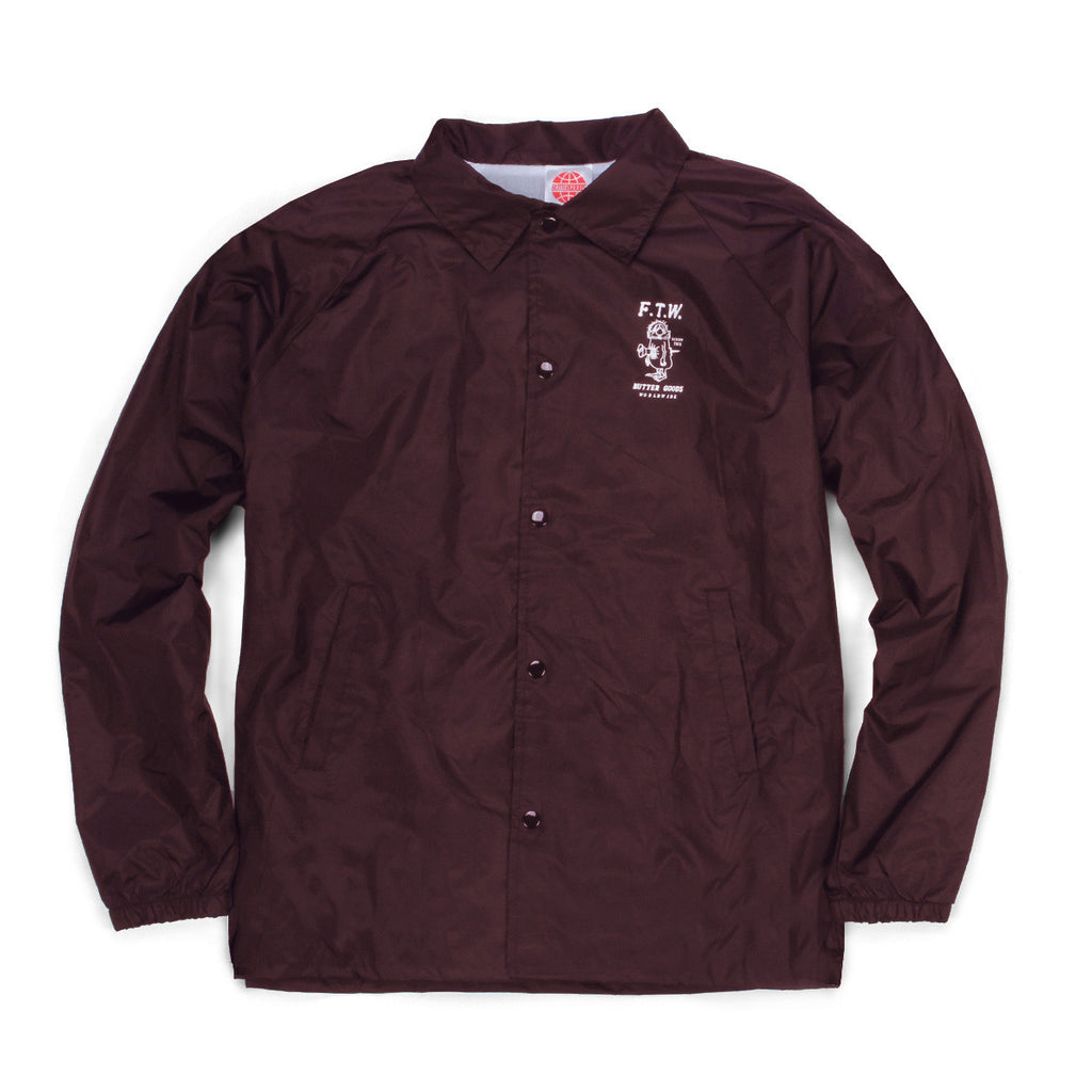 Butter Goods FTW Coaches Jacket - Burgundy