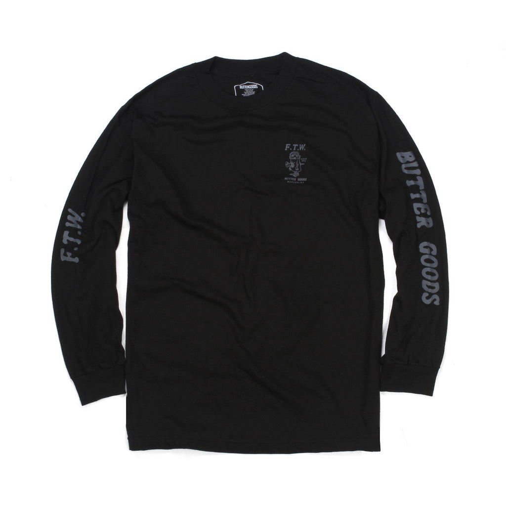 Butter Goods FTW Long Sleeve Tee - Black