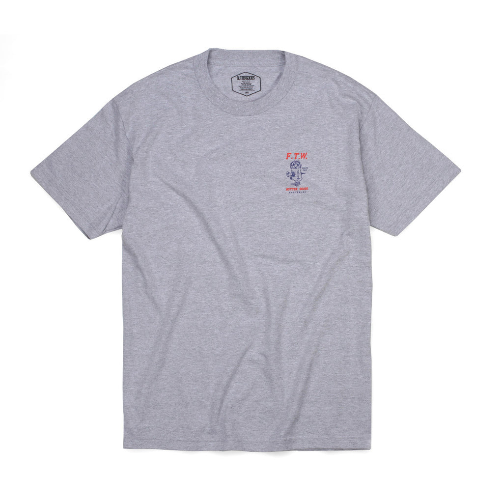 Butter Goods FTW T-shirt - Heather Grey
