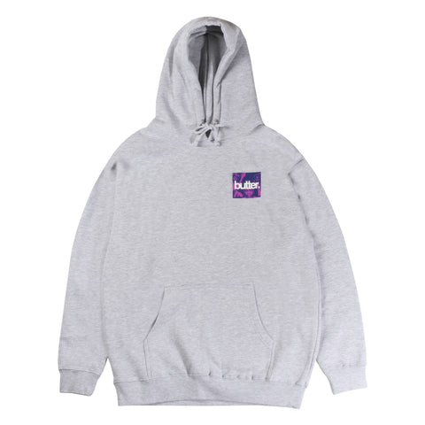Butter Goods OG Logo Headhunter Hooded Sweatshirt - White Grey