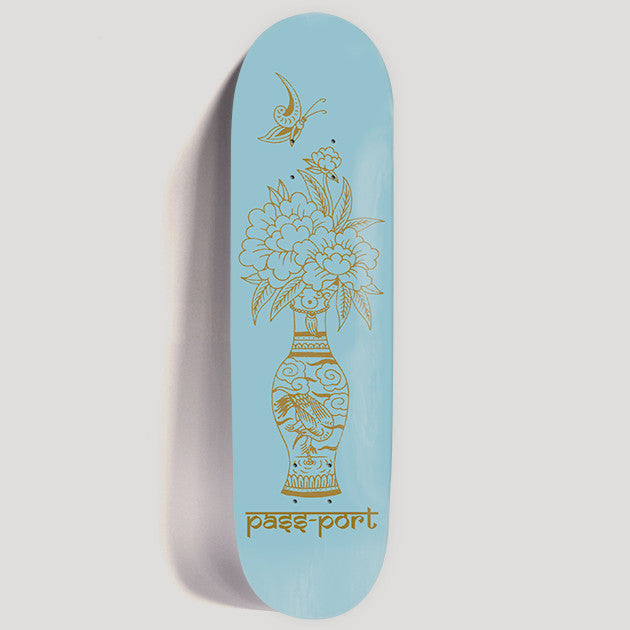 PassPort Skateboards Likely Floral (Blues) Deck