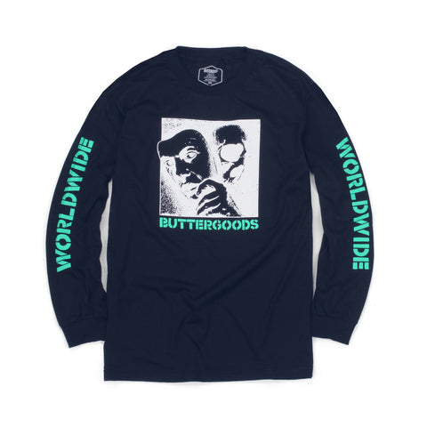 Butter Goods Mask Long Sleeve Tee - Navy