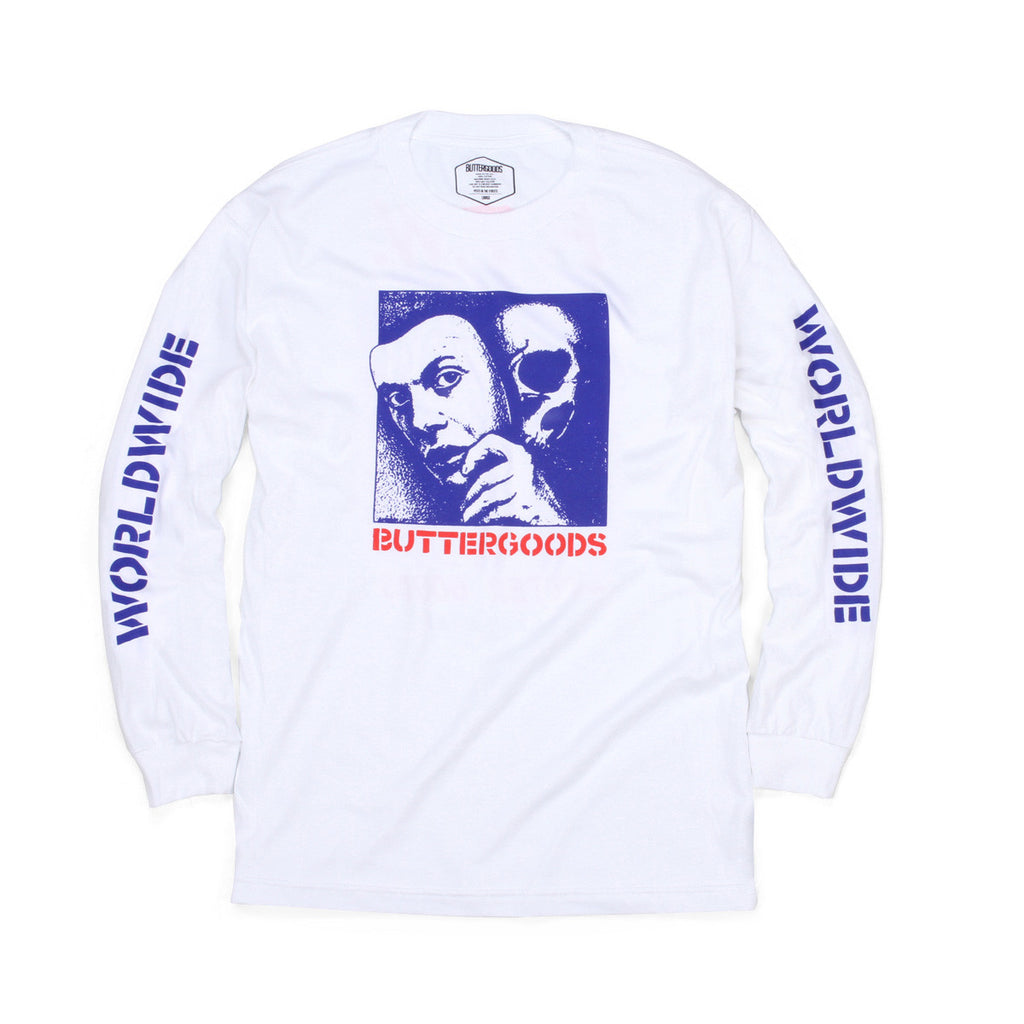 Butter Goods Mask Long Sleeve Tee - White