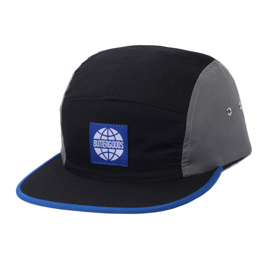 Butter Goods Match 5-Panel Camp Hat - Black/Grey