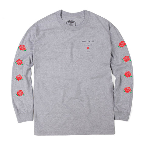 Butter Goods No 13 Long Sleeved Tee - Heather Grey