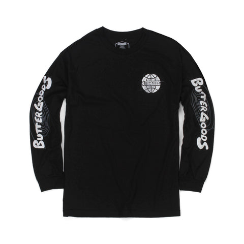 Butter Goods Other Planes Long Sleeve Tee - Black