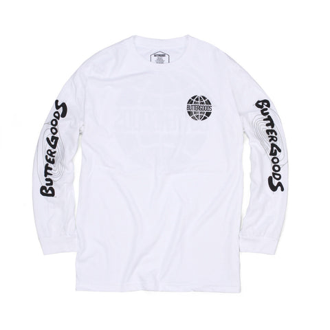 Butter Goods Other Planes Long Sleeve Tee - White