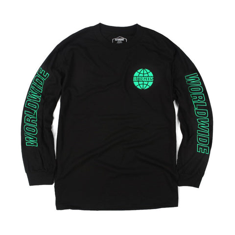 Butter Outline Long Sleeve T-Shirt - Black