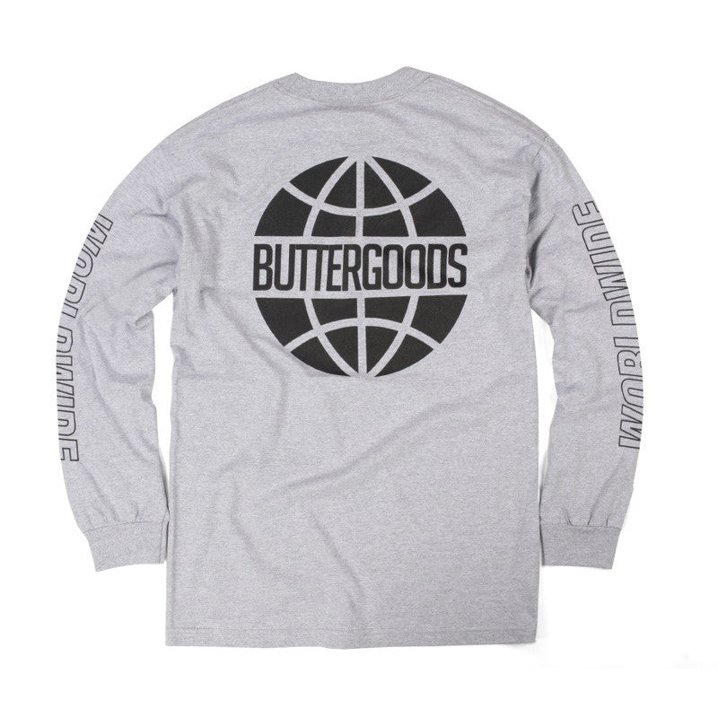 Butter Outline Long Sleeve T-Shirt - Heather Grey