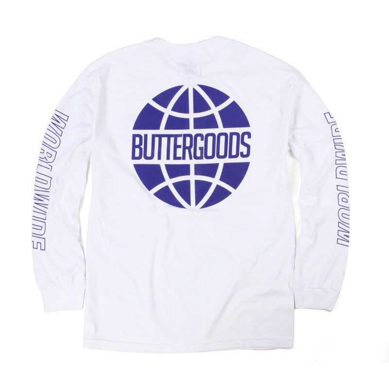 Butter Outline Long Sleeve T-Shirt - White