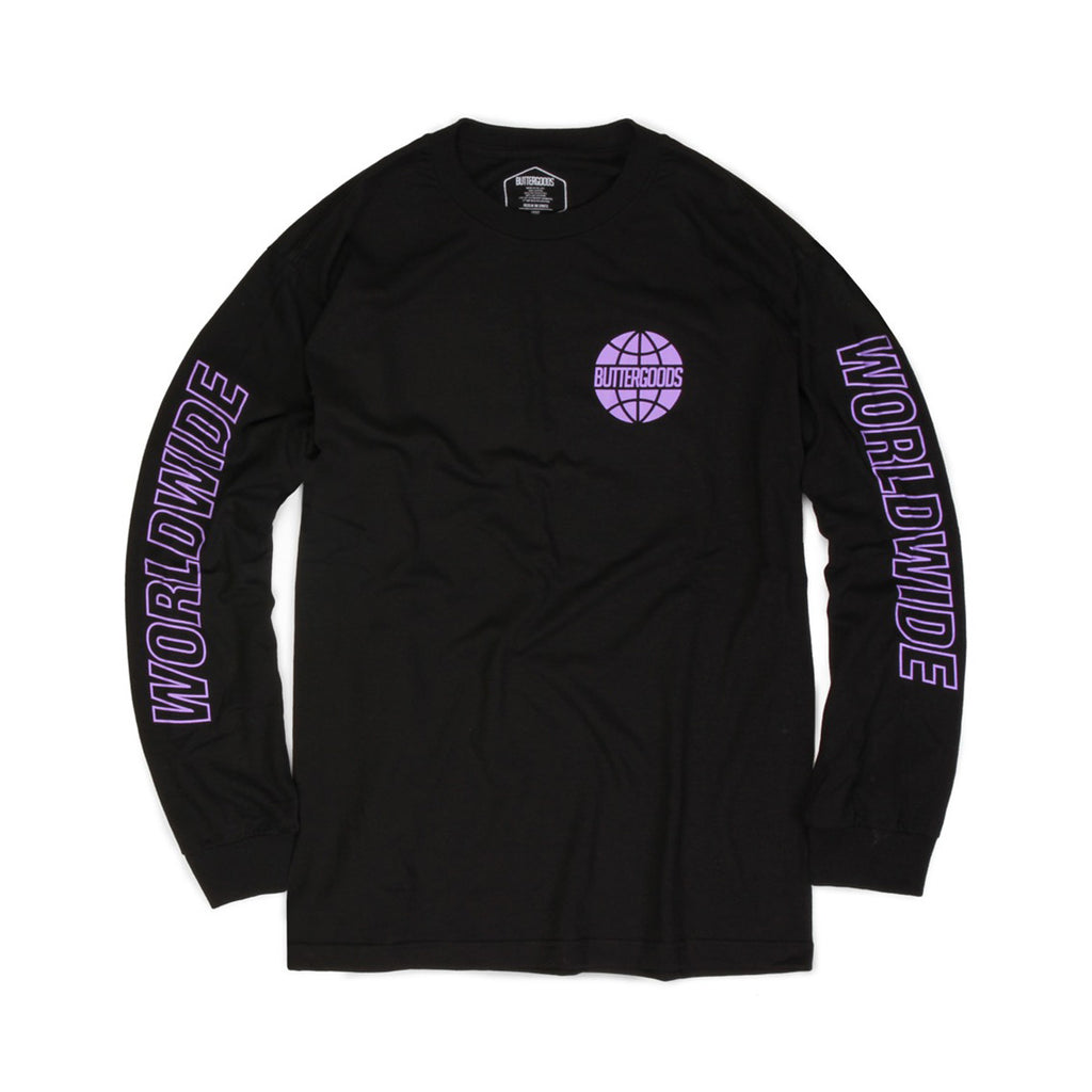 Butter Worldwide Outline Long Sleeve Tee - Black