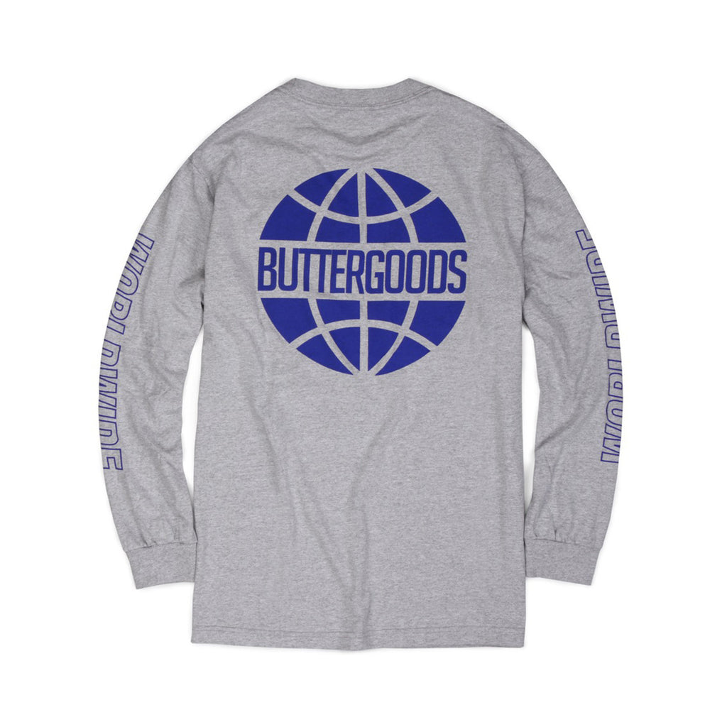 Butter Worldwide Outline Long Sleeve Tee - Heather Grey