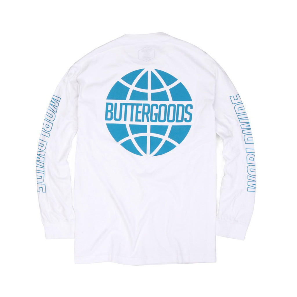 Butter Worldwide Outline Long Sleeve Tee - White