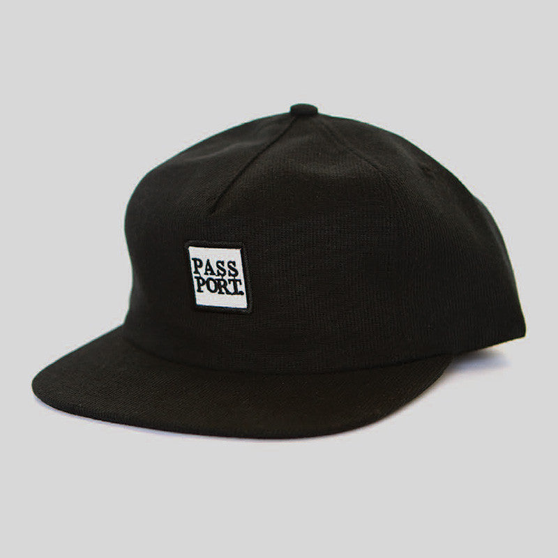 Passport Square Logo Snapback Hat (Black)