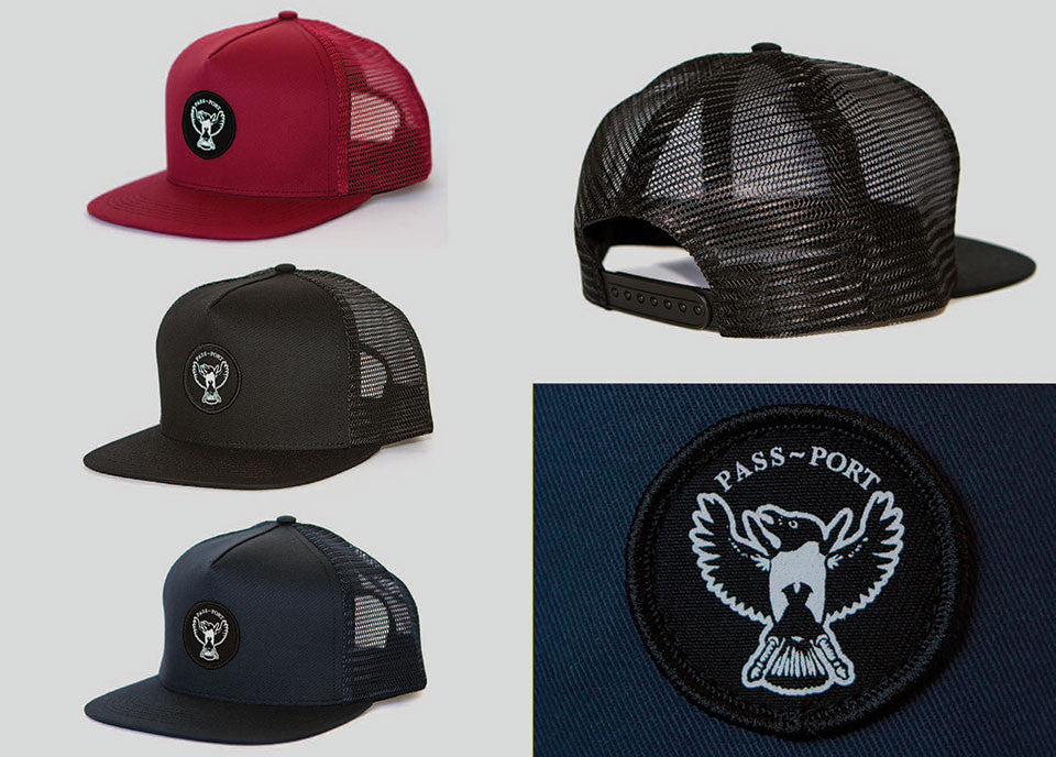 Passport Magpie Mesh Trucker Hat (Brick Red)