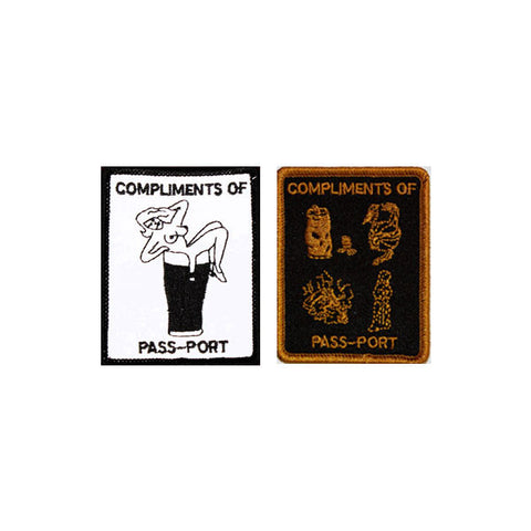 Pass Port With Compliments Patch