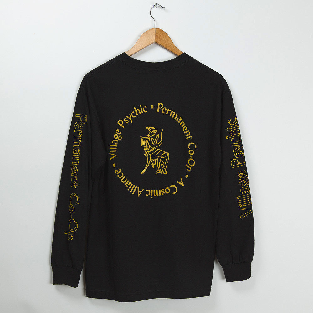 Permanent Co-op x Village Psychic Long Sleeve Tee - Black