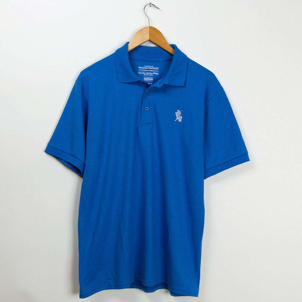 Permanent Co-op x Village Psychic Polo Shirt - Blue